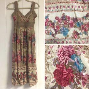 PLENTY TRACY REESE Silk Floral Midi Dress